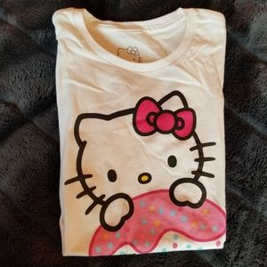 Hello Kitty Cupcake White Tshirt